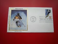 SC 3180 WINTER SPORTS ALPINE SKIING OLYMPICS  FIRST DAY COVER //  FDC COLORANO