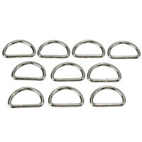 Lots Silver Metal D Ring Webbing Hand Bags Buckles Strapping Belts DIY Acces