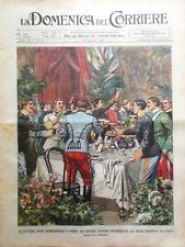 La Domenica del Corriere 22 Giugno 1902 Carestia Turkestan Gara Ippica a Torino