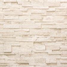 Vliestapete P+S Stein Steine Mauer 3D Optik beige creme 02363-50 (2,43€/1qm)