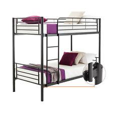 Metal Twin over Twin Bunk Beds Frame Ladder for Kids Adult Bedroom Dorm Black
