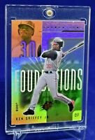 KEN GRIFFEY JR. SPX FOUNDATIONS REFRACTOR REDS LEGEND HOF SP