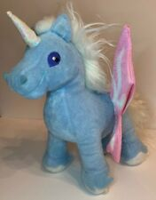 2003 Thinkway Toys Neopets Faerie Uni Plush Talks Lights Up Blue Unicorn Sounds