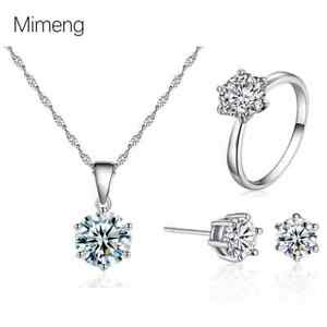 925 Sterling Silver Snowflake Pendant Necklace Stud Earrings Womens Jewellery UK
