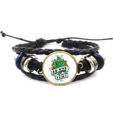 Irish Pride Glass Cabochon Bracelet Braided Leather Strap Bracelets