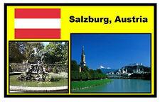 SALZBURG, AUSTRIA - SOUVENIR  FRIDGE MAGNET -  BRAND NEW - GIFT / XMAS