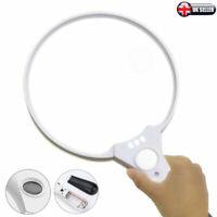 Extra Large Handheld Reading Magnifier 3 LED 25X Magnifying Glass UK