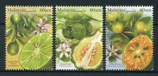 Malaysia 2018 MNH Citrus Fruits Limau Purut Nipis 3v Set Nature Stamps