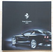 Ferrari gamme 2006 uk marketing brochure-F430 + spider 612 scaglietti superamerica
