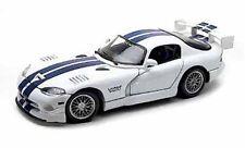 1997 Dodge Viper GT2 Hard Top White/Blue 1:18 Scale w/Opening Doors Hood Trunk