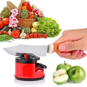 1Pcs Suction Cup Sharp Knife Knives Sharpener Mini Outdoors Kitchen Tools Gadget