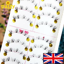 10 PAIRS FALSE FAKE EYELASHES LOWER LASH EYELASHES BLACK EYELASHES BOTTOM LASHES