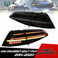 VLAND Tail Lights LED Sequential Smoked For 2013-2020 VW Golf MK7 7.5