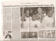 Cardinal Bernard F. Law 86 Obituary New York Times  Archbishop Spotlight REDUCED