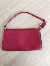 Louis Vuitton Epi Leather Red Pochette Clutch Evening Bag