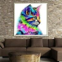 Diamond Painting Diy 5d Decor Embroidery Stitch Home Cross Cat Colorful Craft