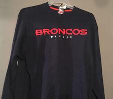 Denver Broncos Large Blue Stiched Sweatshirt NFL Football New