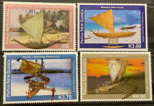 PAPUA NEW GUINEA 2009 TRADITIONAL CANOES MNH SET OF 4