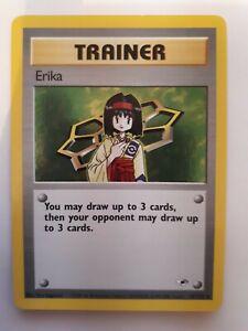 Carte à jouer Pokémon Erika 16 Gym Heroes américaine Mint