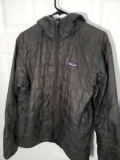 Patagonia Nano Puff Hoody Jacket Parka Mens Small Forge Gray Primaloft Light