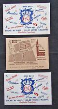 1950's Copenhagen Denmark Bar Cards - Club 69 , Dixi Bar