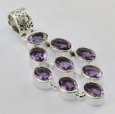 AMETHYST PENDANT 925 STERLING SILVER ARTISAN JEWELRY COLLECTION Y107B
