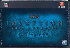 2012 TOPPS INCEPTION FOOTBALL HOBBY BOX FACTORY SEALED