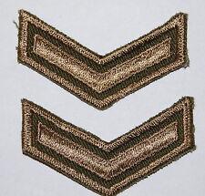Canada- PRIVATE RANK STRIPES (Pair)- Combat Khaki cloth insignia