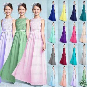 chiffon Charming Bridesmaid Dress Princess Junior Girl Dresses Size 4+++14 years