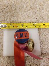 1940's Southern Methodist University Mustangs Football Pin Button SMU Pinback