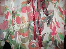 "Pure Silk MNG cream/red ""Wealthy Looking!"" sheer blouse szL, rope detail"