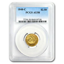 1848-C $2.50 Liberty Gold Quarter Eagle AU-50 PCGS