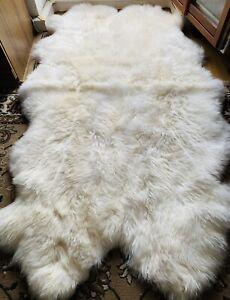 Fur Carpet fur Cover Fur Sheepskin Rug Lambskin 4er Fireplace Fur Real Fur