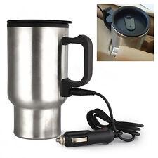 12V Stainless Steel Heated Coffee Warm Tea Hot Car Mug Cup Auto Travel Heating