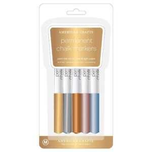 American Crafts Metallic Chalk Marker Set Assorted Colors Scrapbooking Accessory