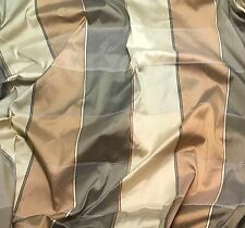 """Brown Gold & Gray Check - Silk Dupioni Fabric 54"""" -by the yard-"""