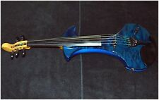 Zeta Strados 5 String Electric Violin Tiger stripe Blue