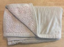 Beansprout Green Baby Blanket Cream Sherpa Micro Mink Swirl Plush Lovey