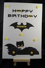 Personalised Hand Made Batman Birthday Card, Son, Brother, Cousin, Dad, Grandson