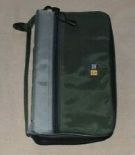 Case Logic Blk/Grey CD/DVD Nylon Wallet Case - Holds 64 CD's w/Zipper Frt. Pouch