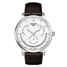 Tissot T063.637.16.037.00 TRADITION Perpetual Calendar Quarz Edelstahl Leder pol