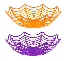 Ornamento de Halloween telaraña Cesta Almacenamiento Dulces Fiesta Decoración Mesa Prop 0900 Reino Unido