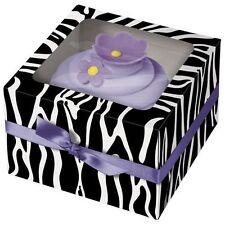 Zebra SIngle Cupcake Box 3ct from Wilton #1897 - NEW