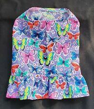 Pretty Butterflies Ruffled Shirt Dog Puppy Pet Apparel Clothes Xxxs - Large