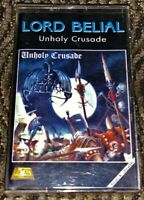 Lord Belial ‎– Unholy Crusade VG Cassette Tape Plays Well. Black Metal