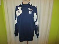 """FC Schalke 04 Original Adidas Spieler Sweatshirt/Pullover 2013/14 """"Gazprom"""" Gr.L"""