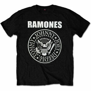 Ramones Presidential Seal Logo Official Rock Metal Music Black Mens T-shirt XL