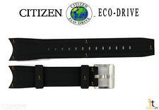 Citizen Eco-Drive Promaster BJ2117-01E Original Black Rubber Watch Band Strap
