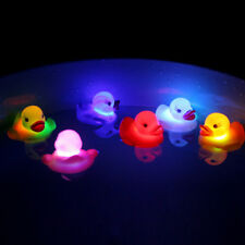Cute LED Flashing Light Rubber floating Duck with Bath Tub Shower Kids Toy