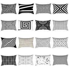 BA_ schwarz und weiß Geometrie Kissenbezug Sofa Auto Kissen Hülle Dekor Kawa